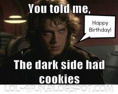 Happy Birthday  Dark Side Cookies