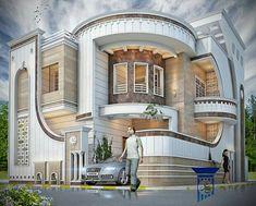 House Outside Design, House Gate Design, Kerala House Design, Bungalow House Design, House Front Design, Modern House Design, Modern Bungalow Exterior, Modern House Facades, Modern Architecture House