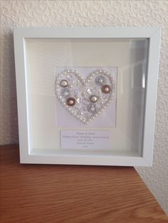 40th ruby wedding anniversary gift by lovetwilightsparkles on etsy pearl wedding anniversary gift negle Images