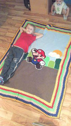 Super Mario Decke für meinen Großen