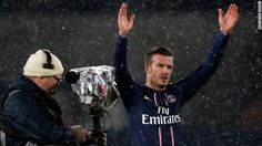 He only played for the last 14 minutes, but David Beckham typically was the center of attention as his eagerly awaited debut for Paris Saint Germain ended in a crucial victory for the French league leaders Sunday. French League, David Beckham, Psg, Soccer Players, Victorious, Derby, Milan, Football, Paris Saint