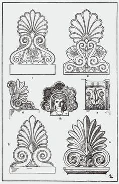 This architectural ornament originated in ancient Greece 2,500 years B.C. They were used to decorate door portals.