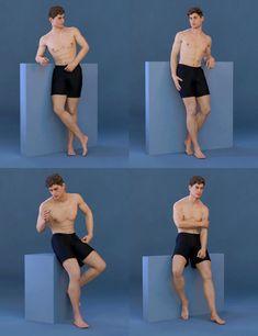 Men Figure Drawing Book Elegant Capsces Model Poses for Genesis 8 Male and Michael 8 Action Pose Reference, Human Poses Reference, Pose Reference Photo, Figure Drawing Reference, Anatomy Reference, Figure Drawing Models, Action Poses, Male Models Poses, 3d Pose Model