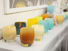 Healing Light colors for summernights inside or out!  #summernights  #glassybaby