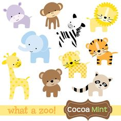 Animal Kingdom clipart baby zoo animal - pin to your gallery. Explore what was found for the animal kingdom clipart baby zoo animal Cartoon Zoo Animals, Baby Zoo Animals, Safari Animals, Cute Animals, Wild Animals, Clipart Baby, Quilt Baby, Deco Jungle, Animal Templates