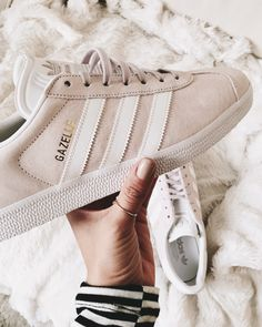 blush colored adidas sneakers