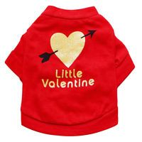 Pet Dog Cat Clothes Puppy T Shirt Vest Apparel Red Valentine Chihuahua Costume