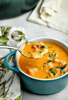 Tomatoes and cream cheese add a rich creaminess to this delicious seafood bisque recipe. You won't be able to stop at just one bowl!