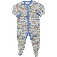 These adorable Dymples Cotton Coveralls will add fun to your little ones wardrobe. The one-piece suit is crafted from cotton has press studs all the way down the front, making changing a breeze. With long sleeves and closed in feet, this is an ideal option for cooler seasons and the all-over print will brighten up even the rainiest of days.