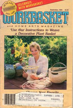 Workbasket Magazine September 1985 Issue, a Vintage Crochet and Home Arts Magazine has been used well. A few of the 102 page are missing (pages 50-55) which is the Foods section by NookCove, $1.89