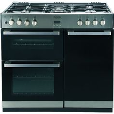 Buy Belling DB490DFT Stainless Steel 90cm Dual Fuel Range Cooker (444440181)…