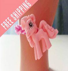 My Little Pony bracelet you choose band colors  by nannasKnitneys, $4.99