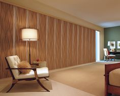 Create an original look that fits your style with Hunter Douglas  Skyline® Gliding Window Panels. The perfect window treatment solution for doors or a large window expanse. #Bedroom ♦ Hunter Douglas window treatments