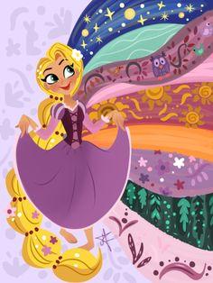 27 Trendy Ideas For Wallpaper Disney Love Pictures Disney Kunst, Arte Disney, Disney Magic, Disney Art, Disney Pixar, Disney Characters, Disney Rapunzel, Tangled Rapunzel, Rapunzel Room