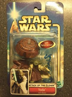 Star Wars Yoda Attack of the Clones Action Figure 2002 #starwars #toys #collectibles
