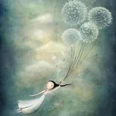 Kai Fine Art is an art website, shows painting and illustration works all over the world. gone with the wind (via Pin by Cristiana Resina on Cristiana Resina: art & illustration Amanda Cass: title unknown [illustration: carried away by dandelions], medium Art Fantaisiste, Whimsical Art, Art And Illustration, Fantasy Art, Art Photography, Sketches, Drawings, Artwork, Dandelions