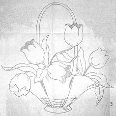 tulip applique basket | Flickr - Photo Sharing!
