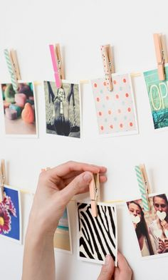 DIY inspiration-These cool magnets can be made with photos from your Instagram, camera-roll or desktop.