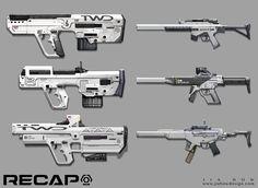 ArtStation - RECAP_Submachine gun Concept, Jia How