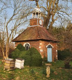 The Apple House in the orchard of the 18th century Bramdean House in Hampshire