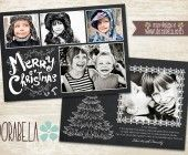 Christmas 5x7 flat card PSD Templates for Photographers