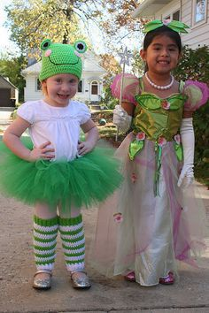 Princess and the Frog costume... a frog would be a great idea for a much younger sibling at a princess party.