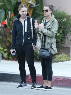 Becca Tobin and Lea Michele out to lunch in Hollywood