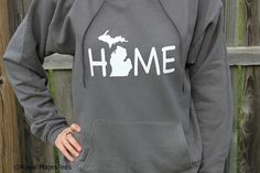 Michigan Home Hoodie Sweatshirt State Home by RoyalMajesTees