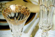 Taças de cristal com friso de ouro da Fabergé para o primeiro brinde do ano! (Foto: @felipefgsantos)