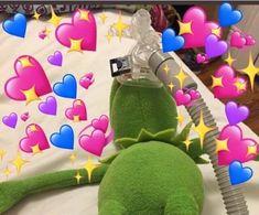 My abundance of wholesome Kermit Crush Memes, New Memes, Funny Memes, Funny Quotes, Food Quotes, Memes Amor, Sapo Meme, Memes Lindos, Heart Meme