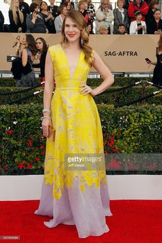 Actress Lily Rabe attends the 22nd Annual Screen Actors Guild Awards at The Shrine Auditorium on January 30, 2016 in Los Angeles, California.