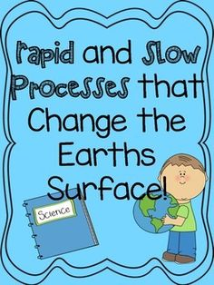 Changes to the earth sort pinterest recording sheets rapid and slow process that change earths surface sciox Gallery