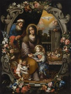 Ca. 1700. San Joaquín, Santa Ana y la Virgen niña by Andrés Pérez de Pineda. Museo de Bellas Artes (Córdoba, Spain)