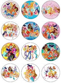 Edible The WINX CLUB Cupcake Toppers 12 edible images for Cupcakes, cookies, brownies or any dessert birthday