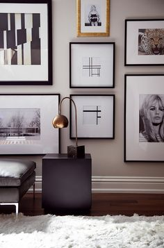 Nice Gallery Wall...I don't like the top picture in gold frame, but the rest are good.