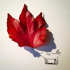 柏林插画家将日常用品的投影创作成了有趣的图画 - 灵感日报