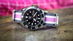 Seiko with pink nato strap Nato Strap, Seiko, Bracelet Watch, Watches, Pink, Accessories, Jewelry, Jewlery, Wristwatches