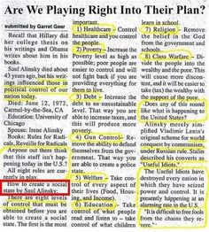 """Years ago, radical Saul Alinsky published his book, """"Rules for Radicals"""" in which he outlined that leftists should control to create a soci. Rules For Radicals, Political Quotes, Political Topics, Political Beliefs, Political News, Out Of Touch, Conservative Politics, How To Get Away, Things To Know"""