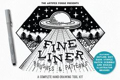 Fine liner Brushes & Patterns by The Artifex Forge on @creativemarket
