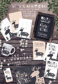 DEER | Festive design collection by daria_miazhevich on @creativemarket