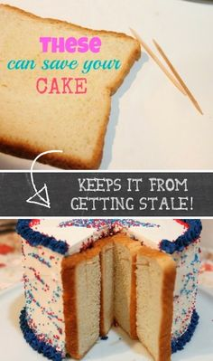 Use bread to keep leftover cake soft and moist! ~ 36 Kitchen Tips and Tricks That Nobody Told You About -- bread saves cookies, never thought about cake. Hacks Cocina, Baking Tips, Baking Hacks, Kitchen Hacks, Let Them Eat Cake, Food Hacks, Cupcake Cakes, Cake Recipes, Cake Decorating