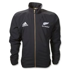 New Zealand All Blacks Rugby zip up anthem jacket