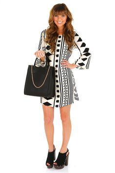 Where Were We Dress: Cream/Black #shophopes