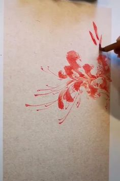 Sumi E Painting, Lily Painting, Garden Painting, Chinese Painting Flowers, Japanese Painting, Chinese Flowers, Chinese Drawings, Chinese Art, Watercolor Techniques