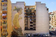Alucinando con el último mural realizado por Etam Cruin en Roma.