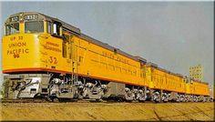Union Pacific GE U50 Diesel Locomotives (1963).