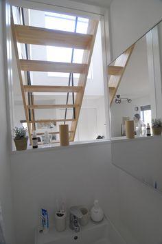 3.5×5.0プランの特徴。洗面から空見えます。