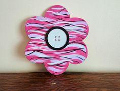 door décor, flower door décor, wood flower door hanger, pink door décor, summer door décor