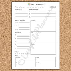DAILY PLANNER A5. Printable pdf. Personal by EasyLifePlanners