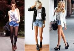 Resultado de imagem para short jeans look